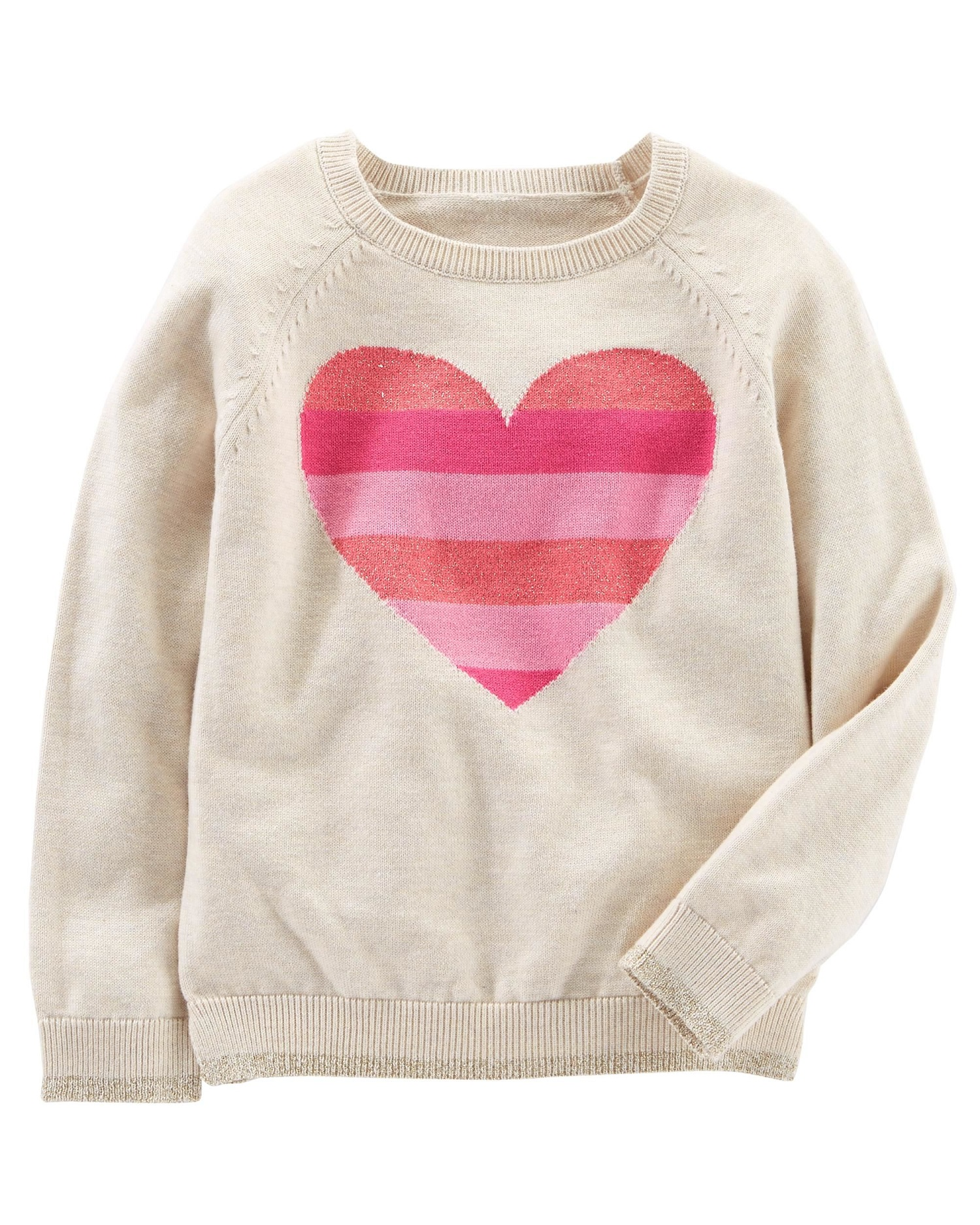 OshKosh B'gosh Baby Girls' Cozy Heart Sweater, 9 Months