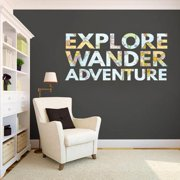 Sweetums Explore, Wander, Adventure' Printed Map Words Wall Decal