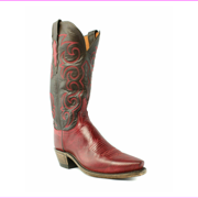 Lucchese N4722.54 Dana Women Red Burnished Goat Leather Cowboy, Western Boots