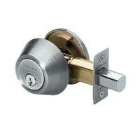 Master Lock Door Lock DSO0615 Single Cylinder Deadbolt, Satin Nickel