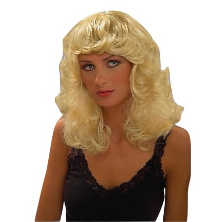 Dolly Blonde Parton Curly Curled Hair Wig Adult Womens Costume Accessory (Blonde Hair Costumes)