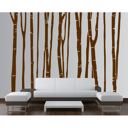 Innovative Stencils Birch Tree Forest Kids Wall Decal
