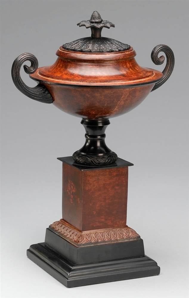 Pedestal Urn w Handles in Brass Finish by Antique Reproductions, Inc.