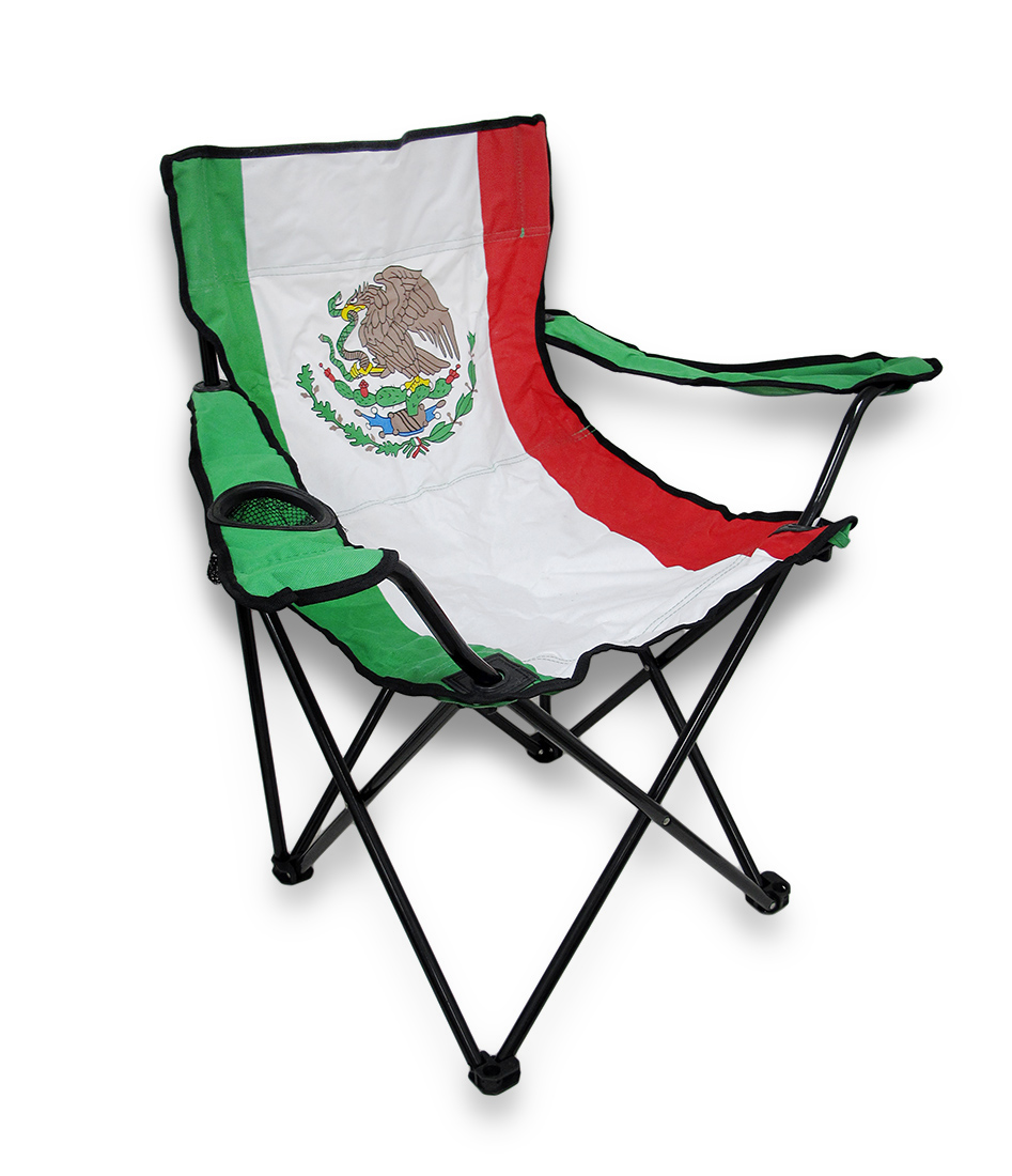 Click here to buy Mexican Flag Nylon Folding Camp Chair Mexico by Ruffin Flag Company.