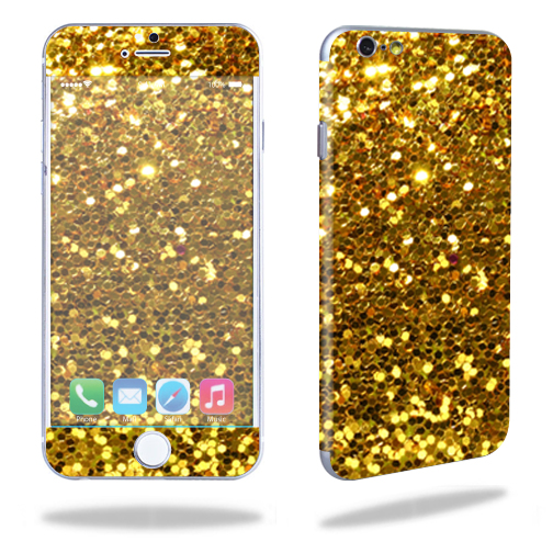 MightySkins Protective Vinyl Skin Decal for Apple iPhone 6/6S Plus wrap cover sticker skins Gold Glitter