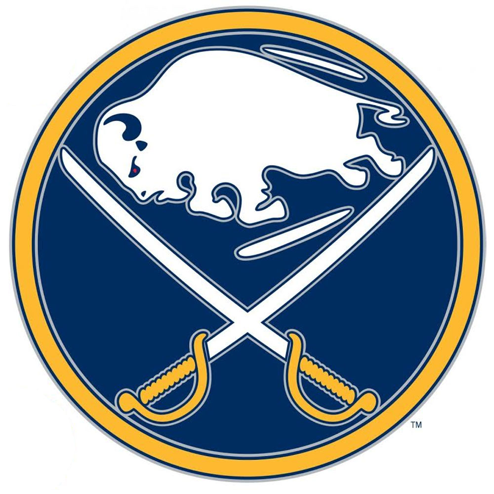 NHL Buffalo Sabres Hockey Logo Wall Accent Sticker Set