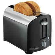 Proctor Silex 2 Slice Toaster, Chrome, Black, Model 22622