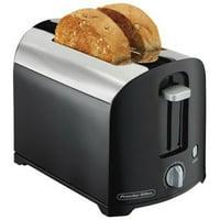 Proctor Silex 2 Slice Toaster, Chrome, Black, Model 22622