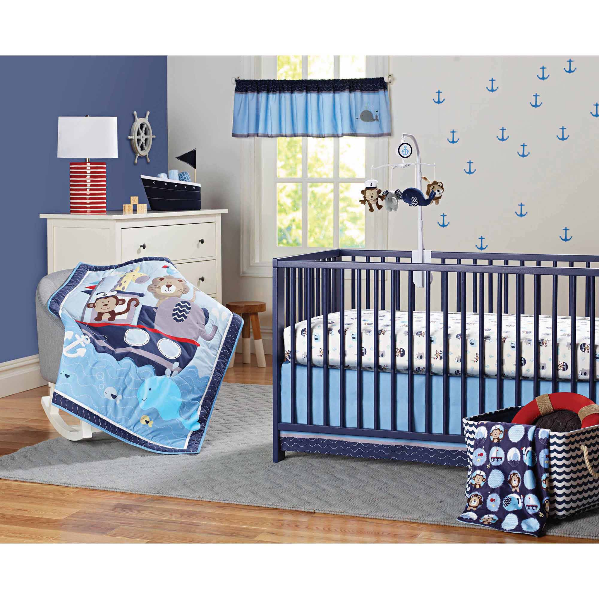 Garanimals Boating Buddies 3-Piece Crib Bedding Set