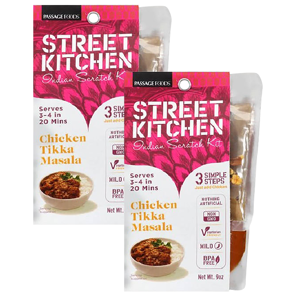 Street Kitchen Chicken Tikka Masala Indian Scratch Kit, 9 oz (2 Packs)