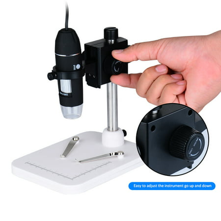 Portable USB Digital Microscope 1000x Magnification Camera 8 LED with Observation Base Stand Compatible with Windows XP/Vista/Win 7 8 10/Android Phones - image 7 of 7