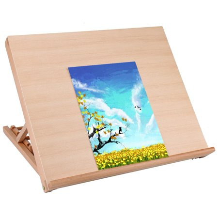 Knifun Premium A2 Art & Craft Work Station - A2 Adjustable Wooden Desk / Table Easel / Drawing Board - Ideal for sketching, drawing & planning - Made from wood - 5 different angles (A2)