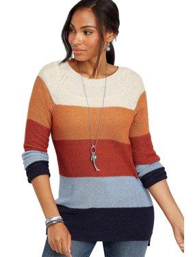 Colorblock Stripe Tunic Sweater