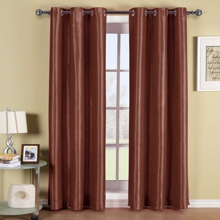 Matte Finish White Thermal - Soho Grommet Thermal insulated Blackout Window Curtain Panel Energy Saving (Sold as Single Panel)