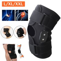 EEEKit Knee Brace, Stabilized Open Patella Aluminum Hinged Lateral Support, Adjustable Compression Knee Brace for Arthritis, Joint Pain, Meniscus Tear, ACL, Running, Basketball, Skiing  , L/XL/XXL