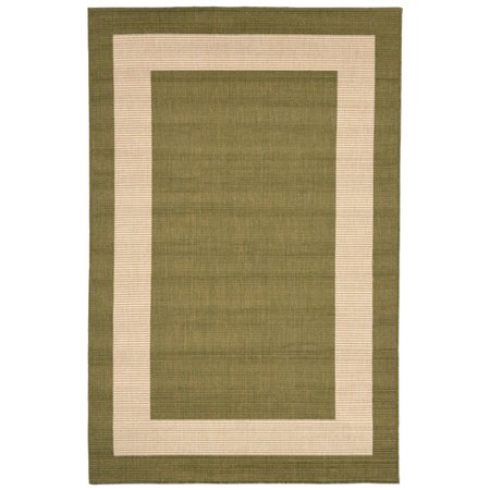 Terrace Patio Rug - Liora Manne Terrace 1786/76 Border Green Area Rug 23 Inches X 35 Inches