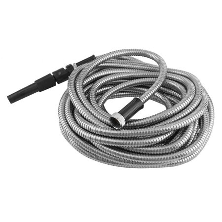 cnmodle Flexible Stainless Steel Garden Lightweight No Twisting Water Hose - Heavy Silver Filter Hose