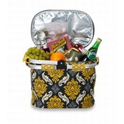 Picnic Plus Shelby Collapsible Thermal Foil Insulated Market Tote Picnic Cooler