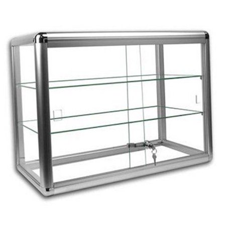 - Glass Countertop Display Case Store Fixture Showcase with front lock #SC-KDTOP