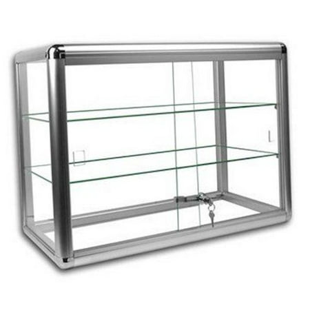 Gl Countertop Display Case Fixture Showcase With Front Lock Sc Kdtop