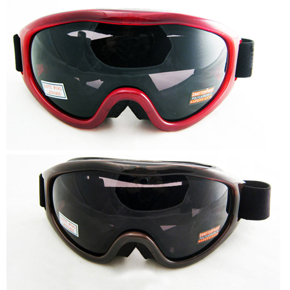 Ski Snowboard Snow Glasses Sun Goggles Sport Lens Anti Fog Red Black...