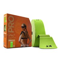 KT TAPE PRO Synthetic Elastic Kinesiology Therapeutic Tape 125 Foot/ 10 inch Strips - Winner Green