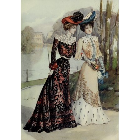 Latest Paris Fashions 1877 Costumes for Monte Carlo Poster Print by Unknown