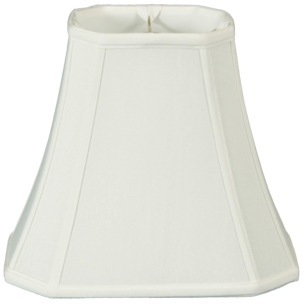 Set of 2 Beige, 8 x 12 x 10 x 5 x 6.5 Royal Designs Rectangle Cut Corner Lamp Shade