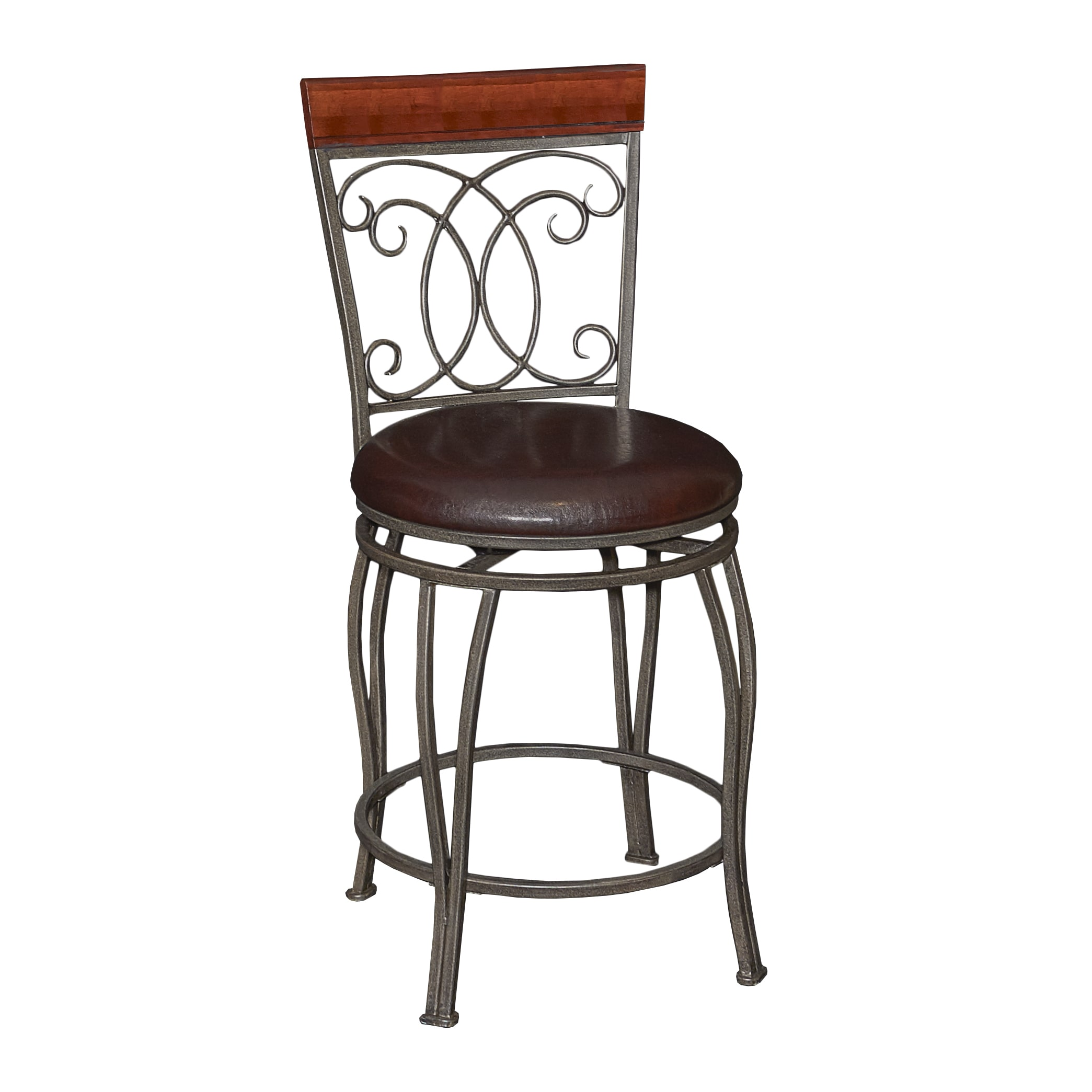 Powell Bailey Brown Metal Counter Stool by Overstock
