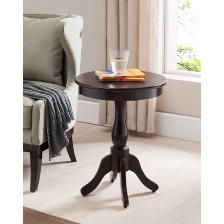Olien Dark Cherry Wood Contemporary Occasional Accent Side Sofa Snack Magazine Table Dark Cherry Side Server