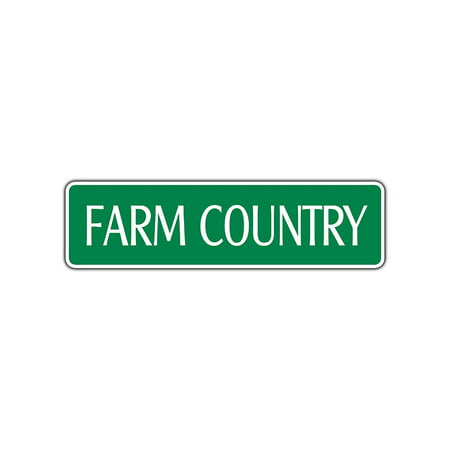 Farm Country Street Sign Dairy Farmer Cow Cowboy Gift Ranch Cows Milking Pony 4x13.5](Cowboy Gifts)