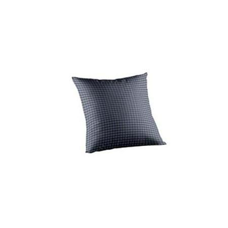 Patch Magic TPW025C Blue and Ecru Gingam Checks, Fabric Toss Pillow 16 x 16 inch