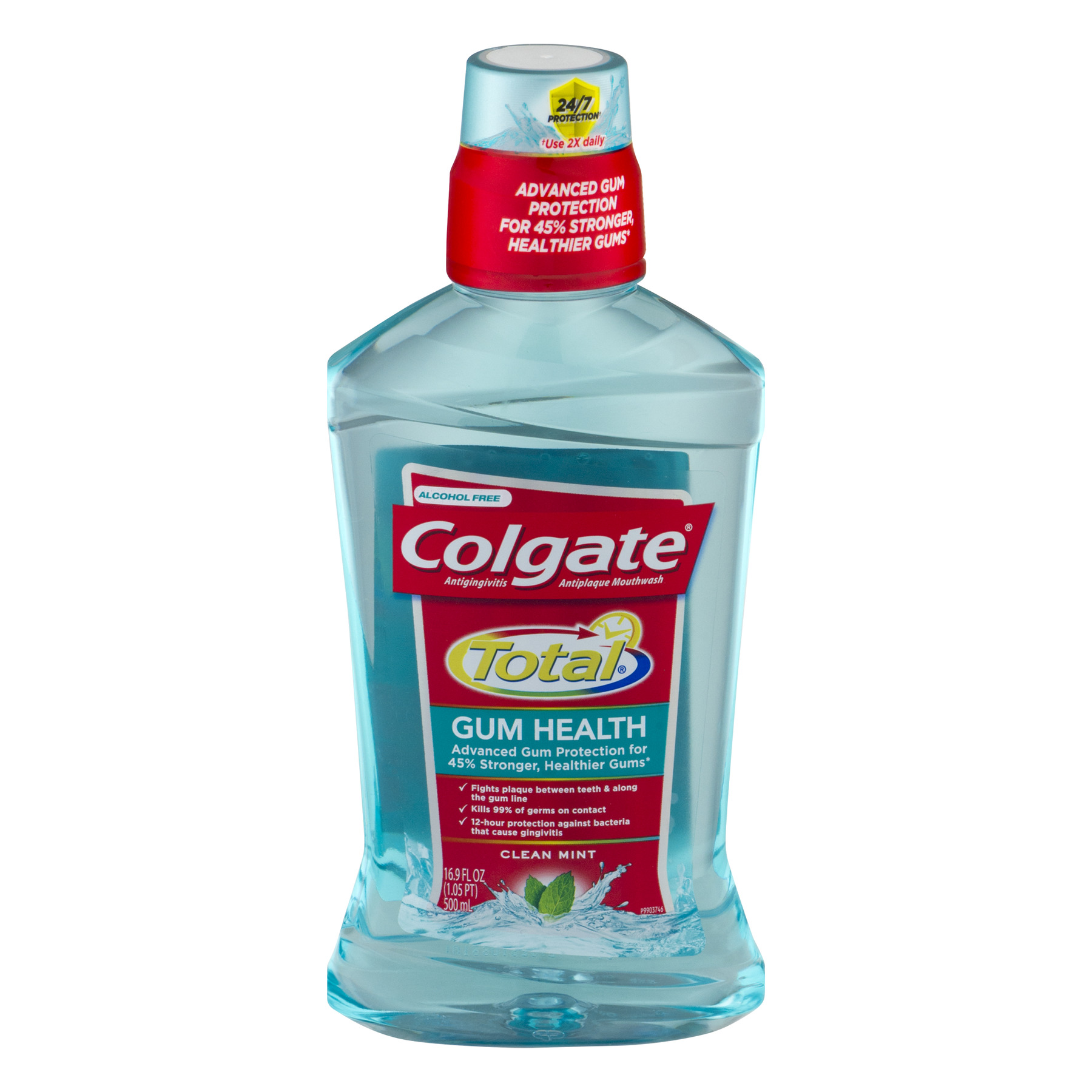 Colgate Total for Gum Health Mouthwash, Clean Mint - 500mL, 16.9 fl oz