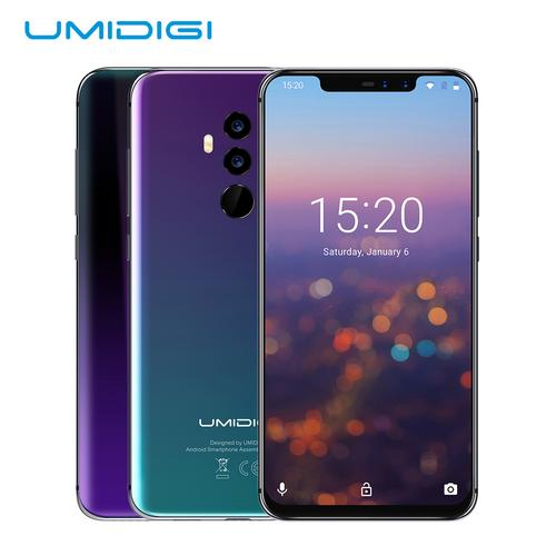 "UMIDIGI Z2 6.2"" Unlocked Smartphone, 16MP+8MP Dual Camera 64GB ROM+6GB RAM 4-side Curved Cell Phone, Black"