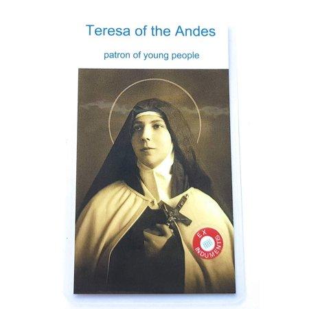 Relic Card 3rd Class of Saint Teresa of The Andes Teresa of Jesus Patron Against Disease Illness Ill People Young People Santiago Los Andes Santa Teresa de Los Andes patrona de enfermos en