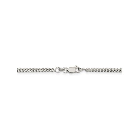 3 mm 925 Sterling Silver Classic Curb Chain Necklace - 22 Inch