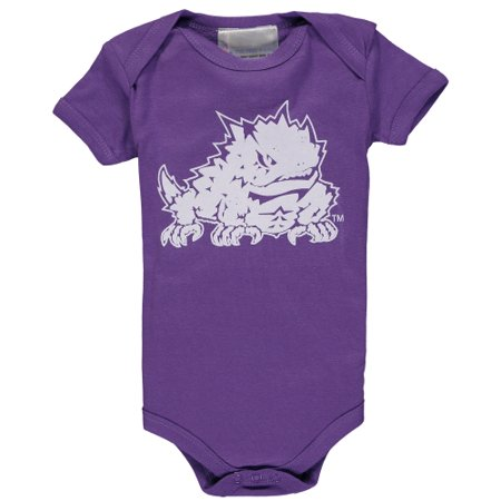 TCU Horned Frogs Infant Big Logo Bodysuit - (Purple Horn)