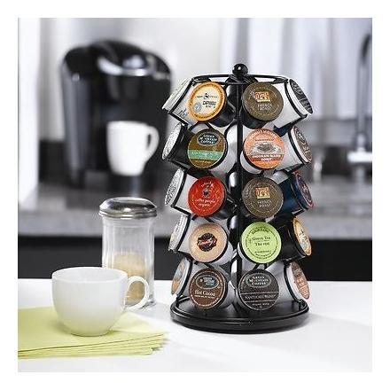 Nifty 35 Capacity Coffee Pod Carousel, Black