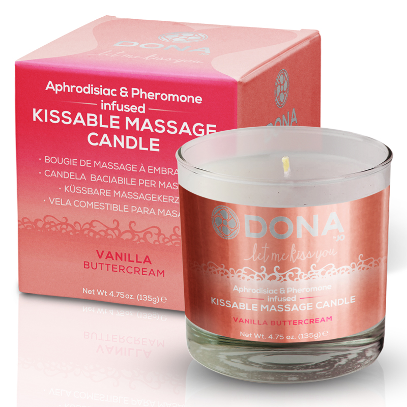 Dona Kissable Soy Massage Candle -Vanilla Buttercream Net Wt 4.75 Oz