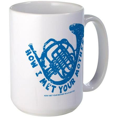 CafePress - HIMYM French Horn Large Mug - 15 oz Ceramic Large Mug