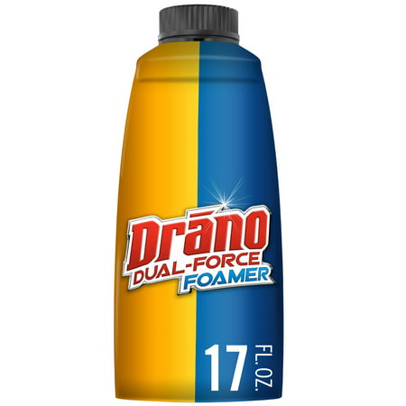 Drano Dual-Force Foamer Clog Remover, 17 fl
