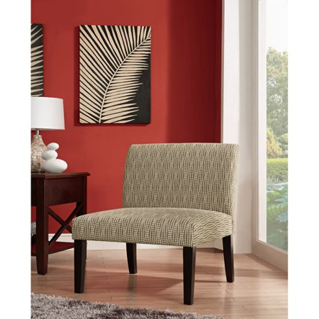 Armless Accent Chair Brown Dot Walmart Com