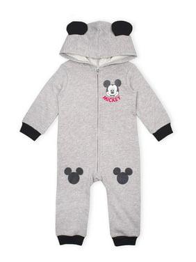 Mickey Mouse Baby Boy Fleece Coverall