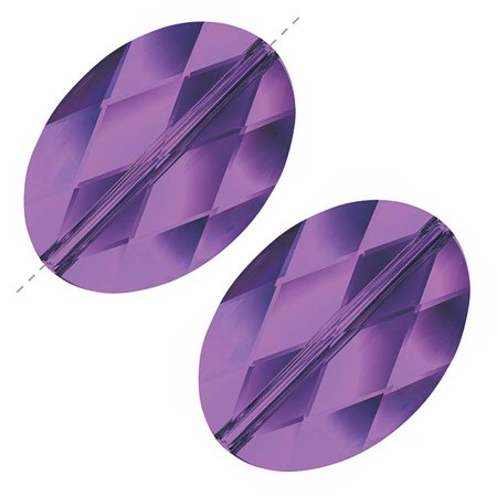 Swarovski Crystal, #5050 Oval Beads 14mm, 2 Pieces,