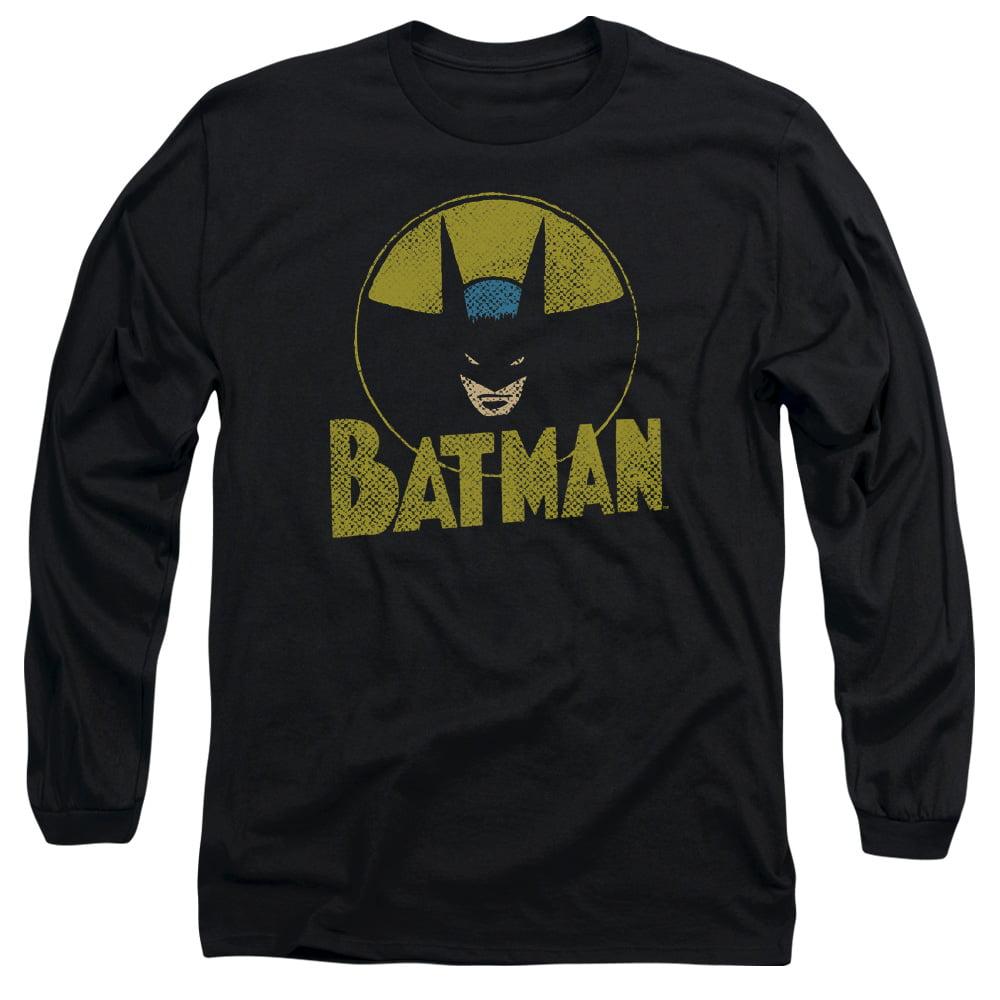 Batman DC Comics Superhero Distressed Comic Circle Adult Long-Sleeve T-Shirt by