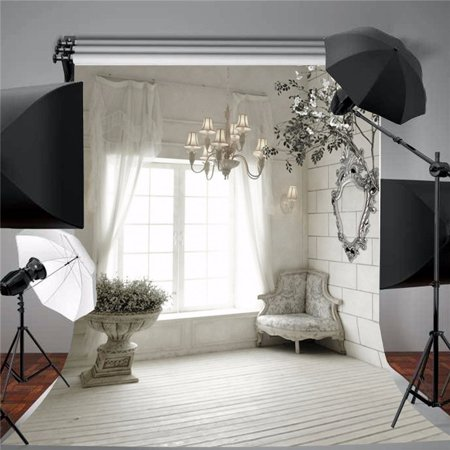 5ft X 7ft  Vinyl Fabric Retro Wooden Curtain Studio Background Photography Backdrop Photo Video Screen Prop European Indoor Retro Wooden - Photo Back Drop