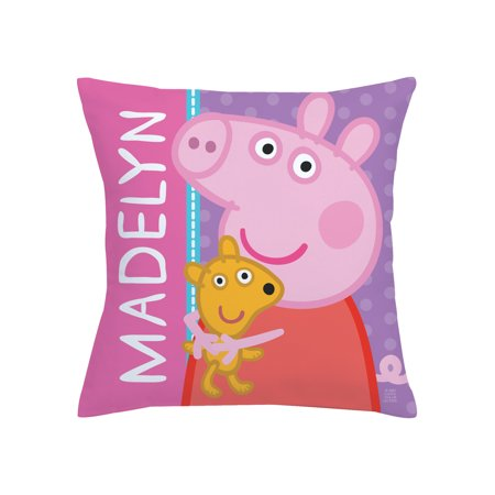 Personalized Peppa Pig Throw Pillow - Big Hug 14