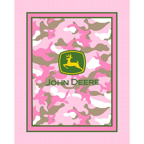 Springs Creative John Deere No Sew Fleece Throw Kit, Pink Camo