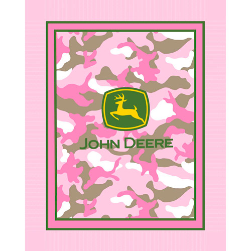 John Deere Throw Kit, Pink Camo