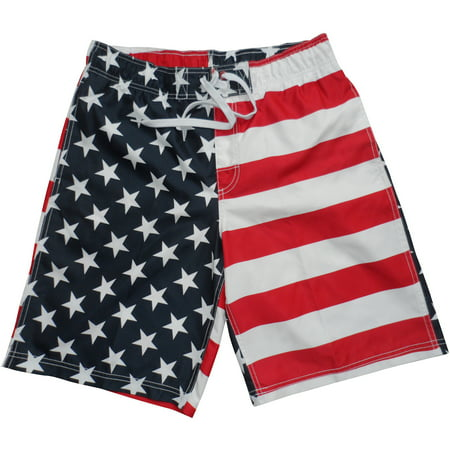 d4bb541550 USA Flag Men's Swim Trunks - Walmart.com